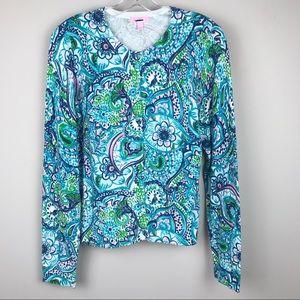 Lilly Pulitzer Button Up Cardigan Sweater Medium